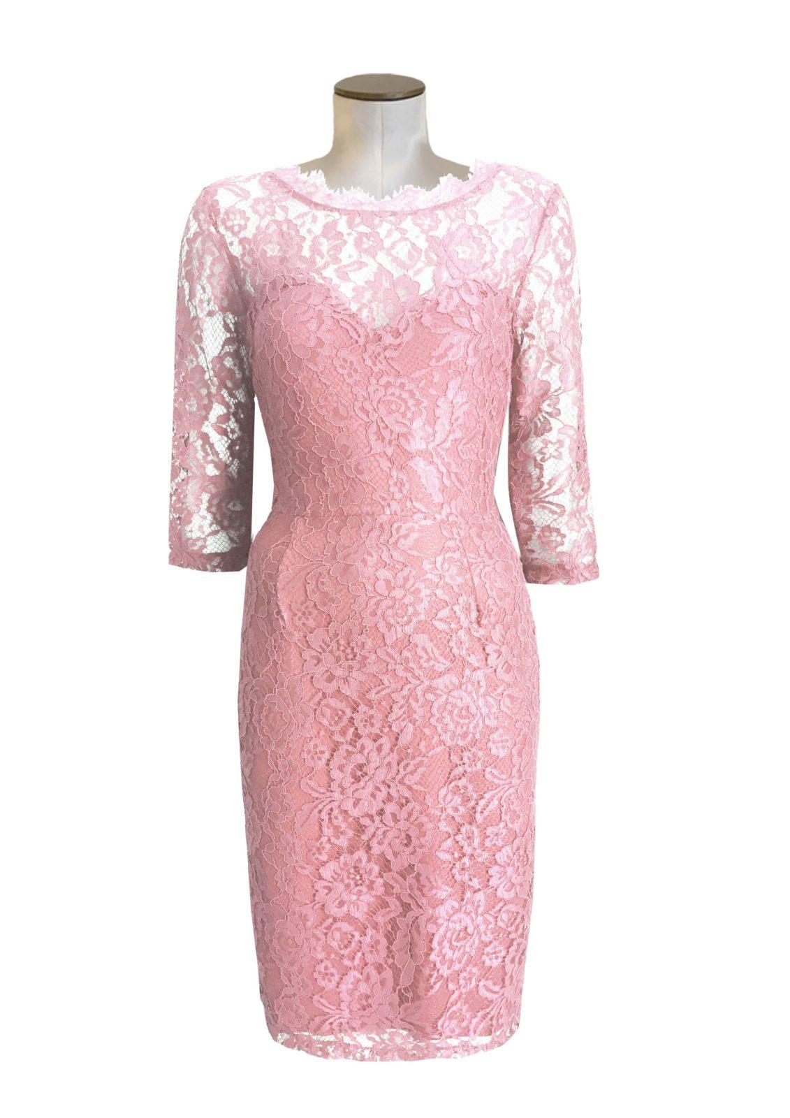 pink rebrode dress