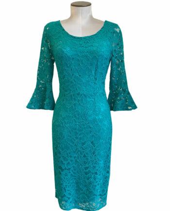 lace turqoise dress
