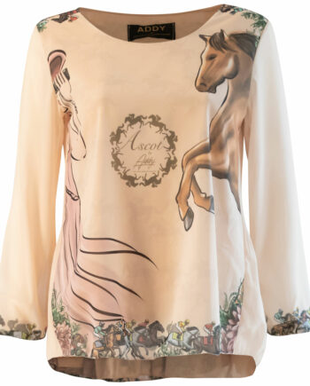 Ascot blouse plisse back