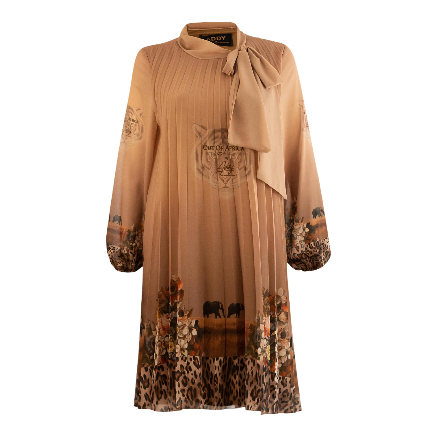 JURK PLISSE OUT OF AFRICA PRINT