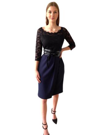 lace dress with wrapskirt