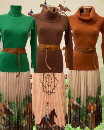 horseprint skirt