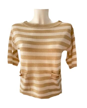 stripe luxe T shirt