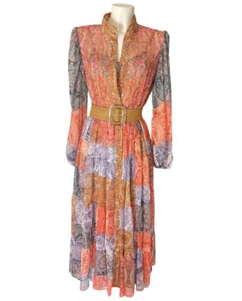 romantic chiffon ruched dress