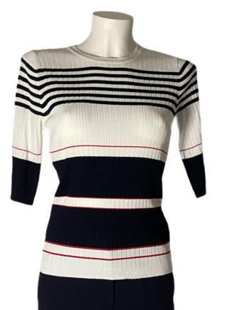 gestreepte marine pullover
