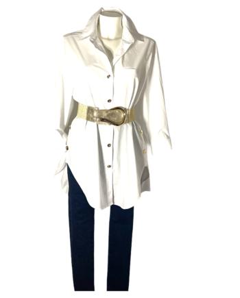 witte overhemdblouse