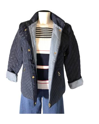 donkerblauw padded jasje