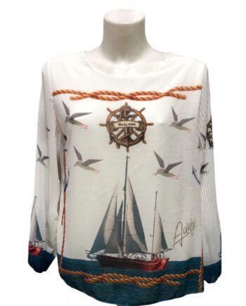 Blu by Addy blouse, nautica thema